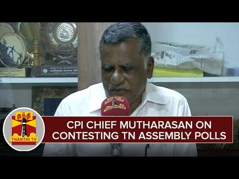 CPI-Chief-Mutharasan-on-Contesting-TN-Assembly-Polls-2016--Thanthi-TV