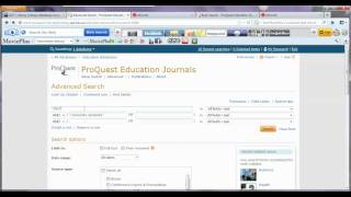 ProQuest Education Search Process Video