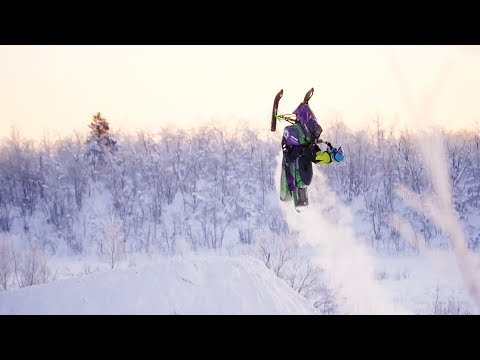 Flippin' crazy: World's First Woman to Backflip with a Snowmobile!