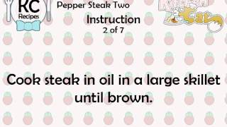 KC Pepper Steak Two YouTube video