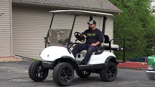 This video is about a Father & Son experience installing a Jake lift kit on a Yamaha Golf Cart. Filmed by Jeff Bramlett & Joe...