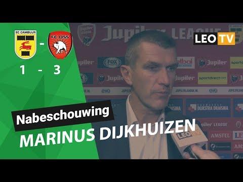 Marinus Dijkhuizen na SC Cambuur - FC Oss