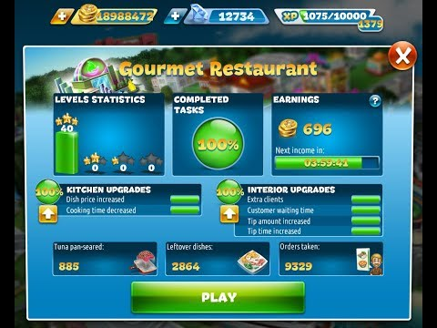 Cooking Fever-Gourmet Restaurant(Hell's Kitchen) Level 1-40(3 Stars)