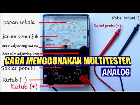 Cara menggunakan alat ukur multitester analog