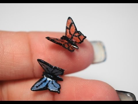 tutorial fimo - miniature di farfalle