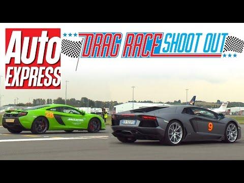 McLaren 650S Spider vs Lamborghini Aventador – Drag Race Shoot-out