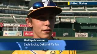 Oakland Athletics Baseball Team Hosts Jewish Heritage Night