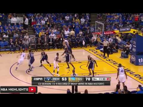 Memphis Grizzlies Vs Golden State Warriors   Full Game Highlights   April 13, 2016   NBA