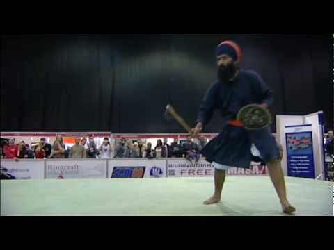 gatka - Ferocious sword vs axe sparring, salted eye, blindfold sword slicing through bananas in mouths and a melon on a stomach. Look away now if you are of a nervou...