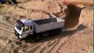 Bridge Construction Site Part1 RC Construction Machines (Excavator / Dump Truck Etc)