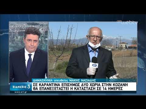Στα νοσοκομεία αναφοράς οι ασθενείς με κορονοϊό-Δύο χωριά σε καραντίνα στην Κοζάνη | 17/3/2020 | ΕΡΤ