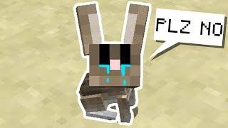 I KILLED A BUNNY • | Minecraft Hardcore Noodle Planet [#3]