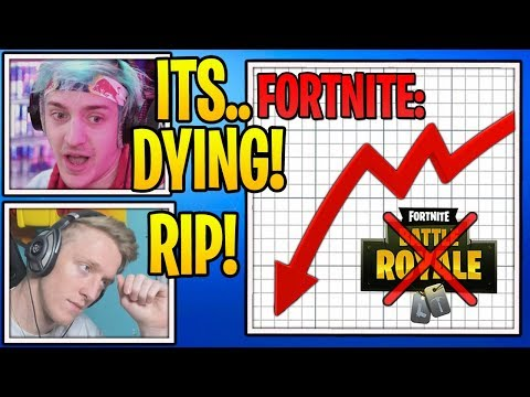 Streamers React To Fortnite *FINALLY* DYING! (RIP)