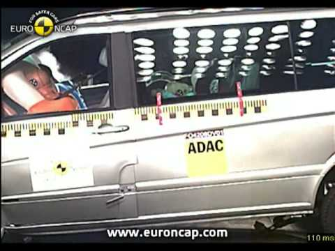 Mercedes Benz Viano euroncap çarpışma / güvenlik testi videosu
