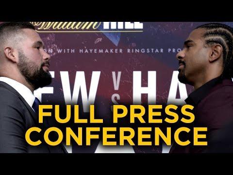 Tony Bellew vs David Haye FULL PRESS CONFERENCE (видео)