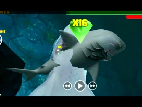 Hungry Shark Evolution Megalodon vs Evil Megalodon | How to crash submarines Quickly with megalodon