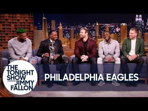 Jimmy Interviews the Super Bowl Champion Philadelphia Eagles (видео)