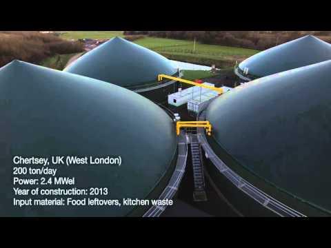 Proyectos y plantas de biogás