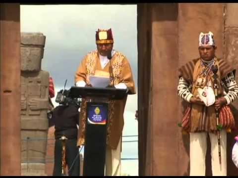 Presidente Evo Morales toma posse como líder dos povos indígenas da Bolívia