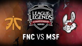 FNC vs. MSF - Week 1 Day 1 | EU LCS Summer Split | Fnatic vs. Misfits Gaming (2018)