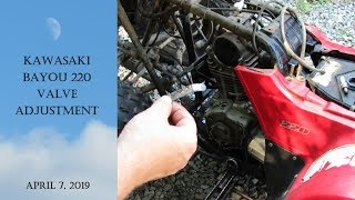 8. Kawasaki Bayou 220 Valve Adjustment