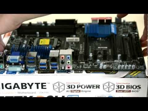 Gigabyte Z77X-D3H Motherboard Unboxing (Hackintosh 2012 Ep.2) (видео)