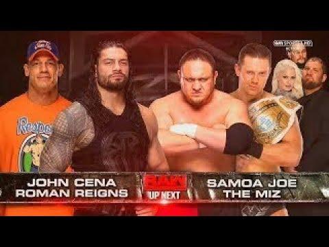 LUCHA COMPLETA: John Cena & Roman Reigns vs The Miz & Samoa Joe | Raw Latino ᴴᴰ