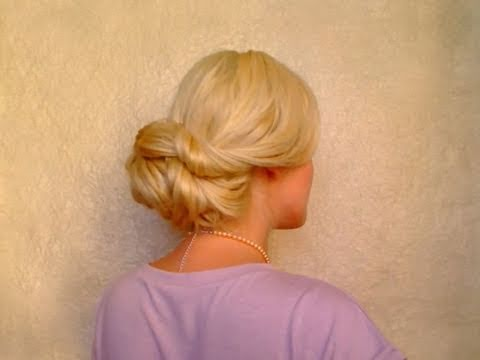 Wedding hairstyles for long hair tutorial Easy elegant updo Fryzura na dlugie wlosy