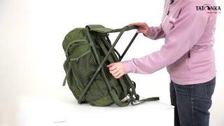 Складной стул-рюкзак для рыбака. Tatonka Fischerstuhl