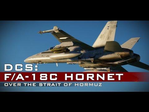 DCS: F/A-18C Hornet - Over the Strait of Hormuz (видео)