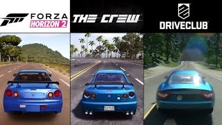 The Crew vs. Forza Horizon 2 vs. DriveClub (PS4 & Xbox One) Gameplay Graphics Comparison