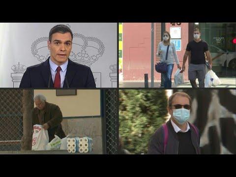 Spanien: Notstand - Kampf gegen Coronavirus durch Qua ...