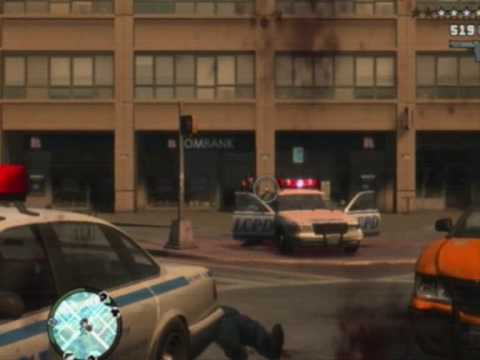 GTA 4 - Funny Police Action + Bloopers