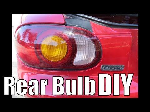 Mazda Miata Tail Light Bulb Replacement DIY U2013 How To Replace Brake Light NB  1999 2000 2001 2002 2003