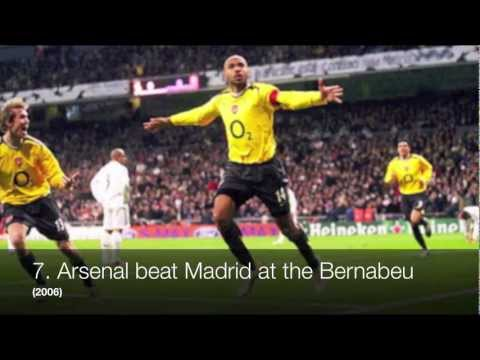 Arsenal - Based on Arsenal FC's arsenal.com Gunners Greatest 50 Moments: http://www.arsenal.com/history/gunners-greatest-50-moments With enough likes I may just upload...