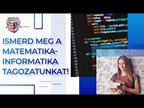 Emelt óraszámú matematika-informatika osztály (9. E)