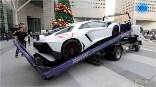 Video Best Truck Delivery of Lamborghini Aventador LP750-4 SV MP3, 3GP, MP4, WEBM, AVI, FLV Februari 2018