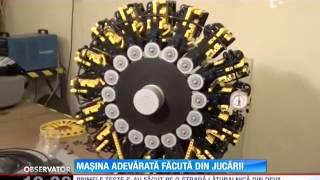 Un tânăr din Deva a făcut o maşină adevărată din jucării lego !