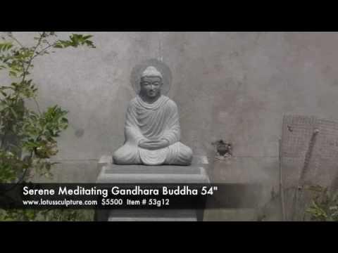Stone Meditating Gandhara Buddha 54