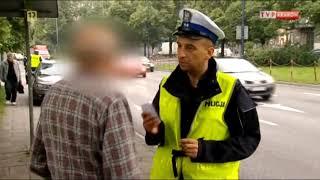 Typowy Janusz zatrzymany przez policję.