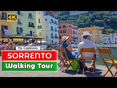 Sorrento, Italy Walking Tour No Captions 4K