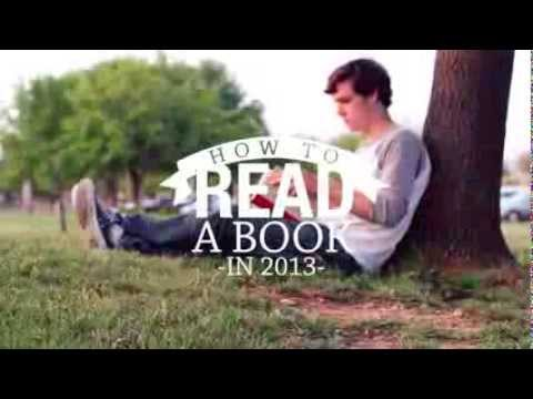 read a book - How-To Video Project for my Intro to Visual Media class at Abilene Christian University Thanks, everyone, for the feedback on the video. Yes, for those who a...