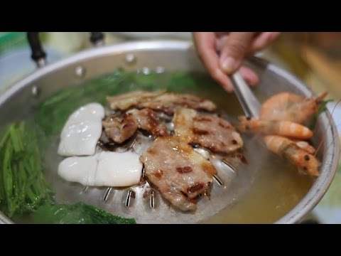 Thai Food: Thai Barbecue/Hotpot Buffet. Moo Kata. All You Can Eat In Thailand