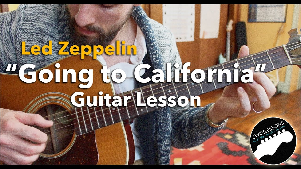 "Led Zeppelin ""Going to California"" – Acoustic Fingerpicking Guitar Lesson 1-3"