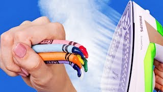 Video COLORFUL CRAYON IDEAS AND HACKS MP3, 3GP, MP4, WEBM, AVI, FLV Juni 2019