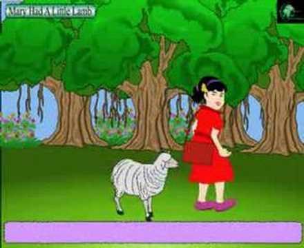Nursery Rhymes- Mary Had a Little Lamb- with Lyrics