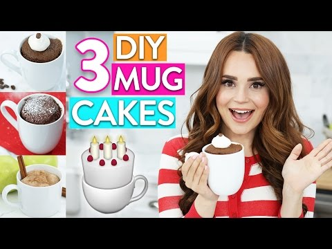 Download 3 EASY DIY MUG CAKES! HD Mp4 3GP Video and MP3
