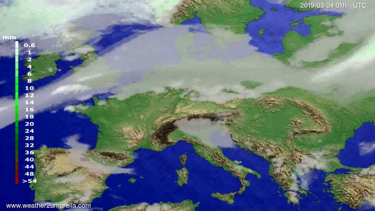 Precipitation forecast Europe 2019-03-23
