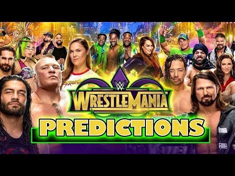 WWE WRESTLEMANIA 34 PREDICTIONS! Going In Raw Pro Wrestling Podcast