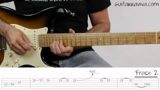Como tocar el Solo de Knocking On Heavens Door Guitarra electrica Guns Roses tutorial facil punteo